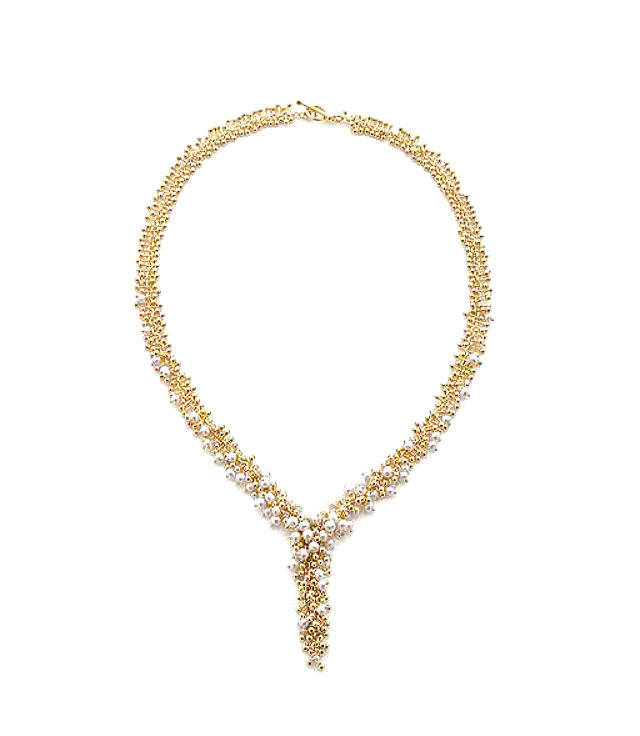 Statement Gold & Pearl Necklace
