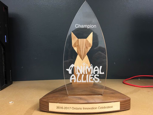 Here is our Ontario Innovation Award from last year... the one which would lead us to Washington DC!