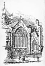 - St Mark's Church, Bristol, west front, as drawn c. 1892 following restoration.
