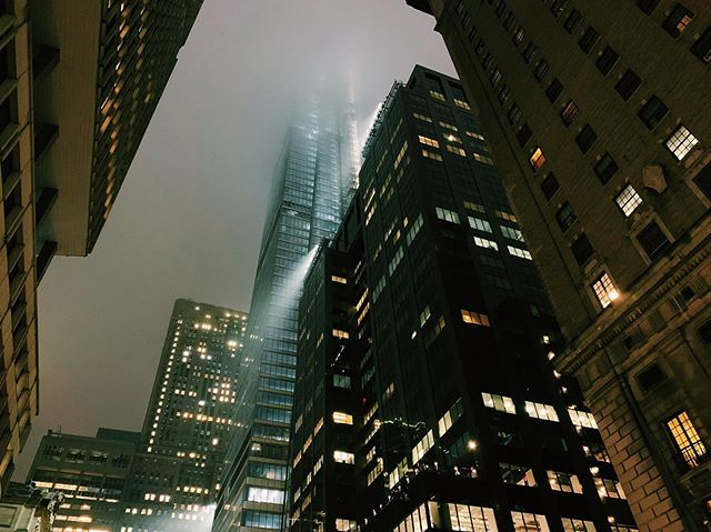 sometimes a misty fall evening hits just right.
