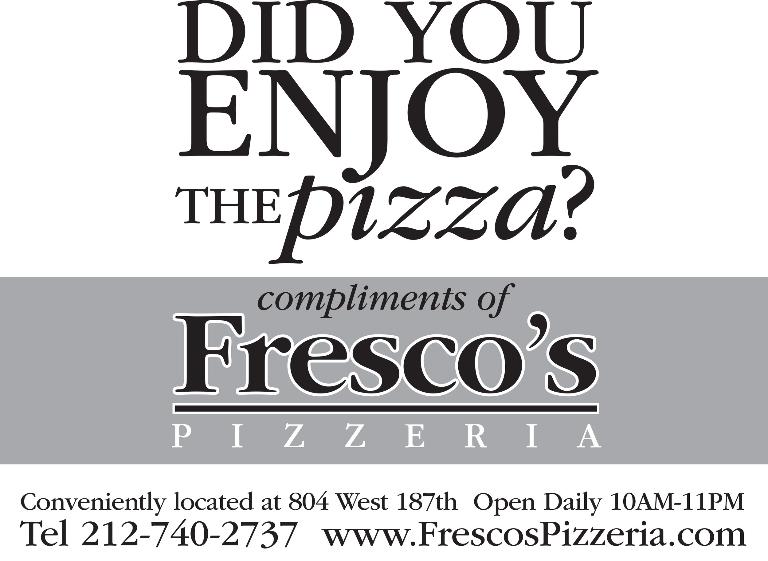 Fresco's Pizzeria