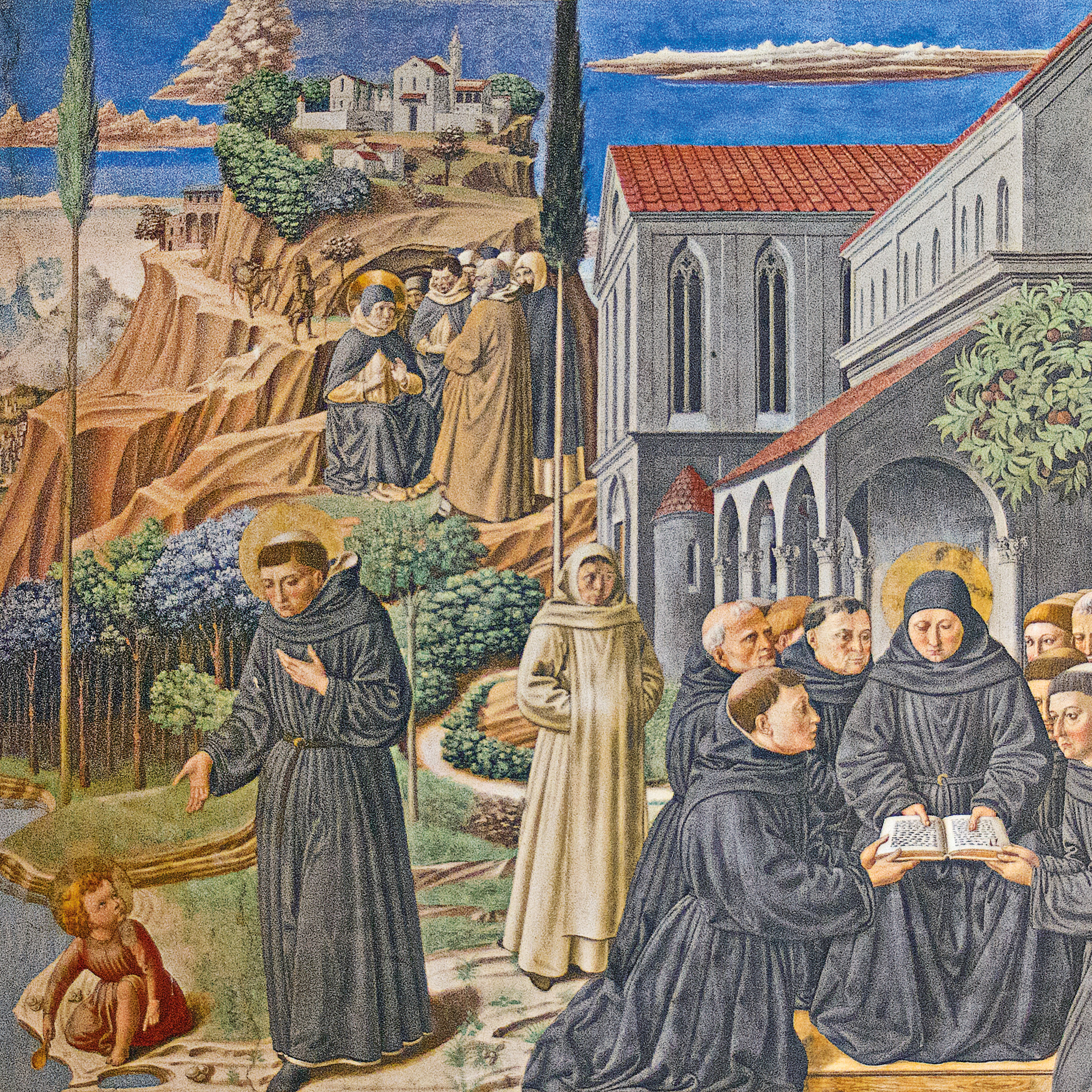 Augustine Gives His Monastic Rule to His Brothers