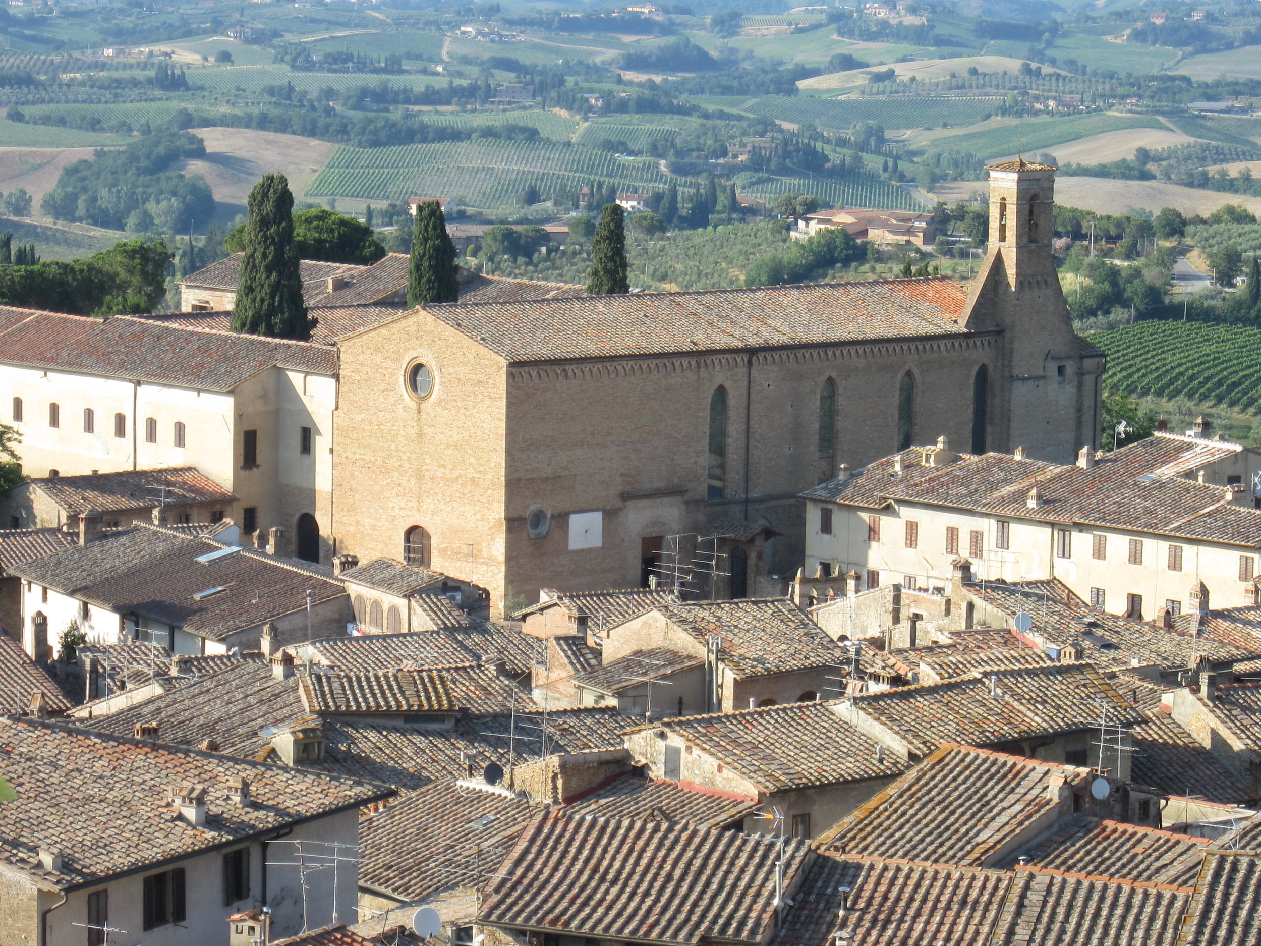 The Church of St. Augustine, in San Gimignano, Italy--a place of pilgrimage for all Men in Formation