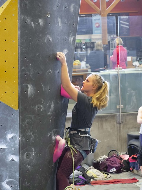Difficulty Comp (Mostly Red Deer climbers), Elevation Place, Canmore, March 16, 2019 (Brian Olstad)