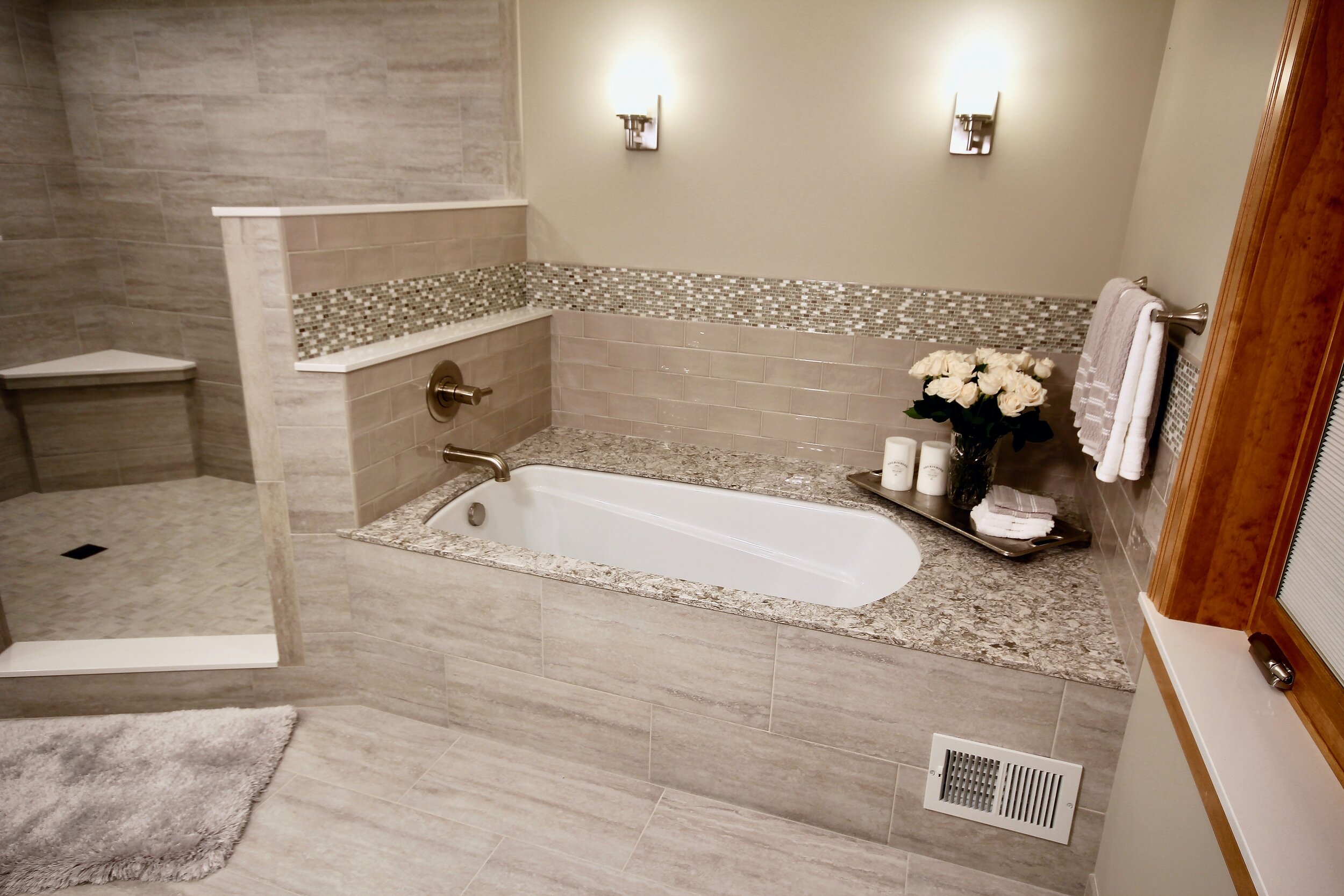 Comfortable soaker tub
