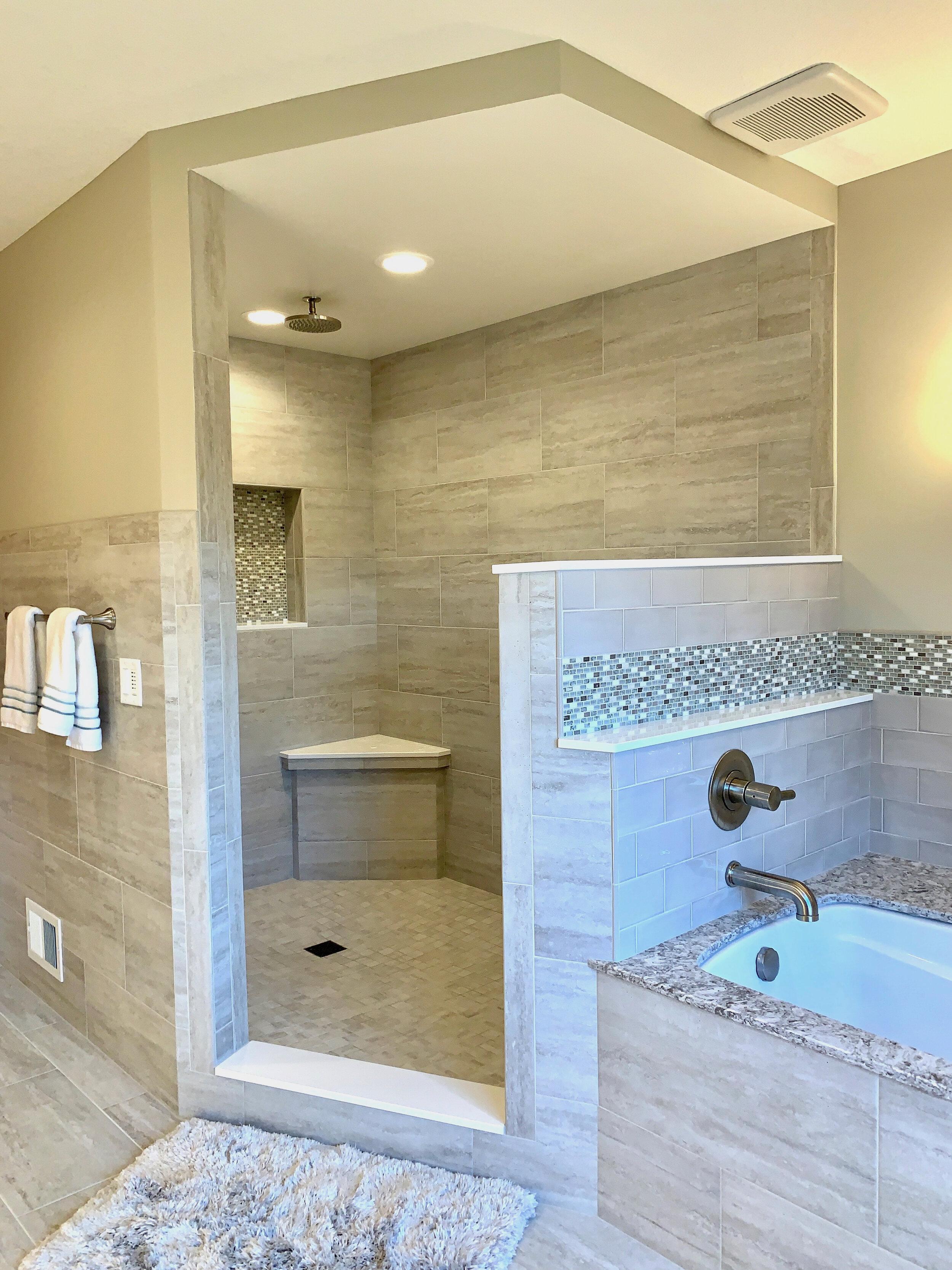 Glass-free shower