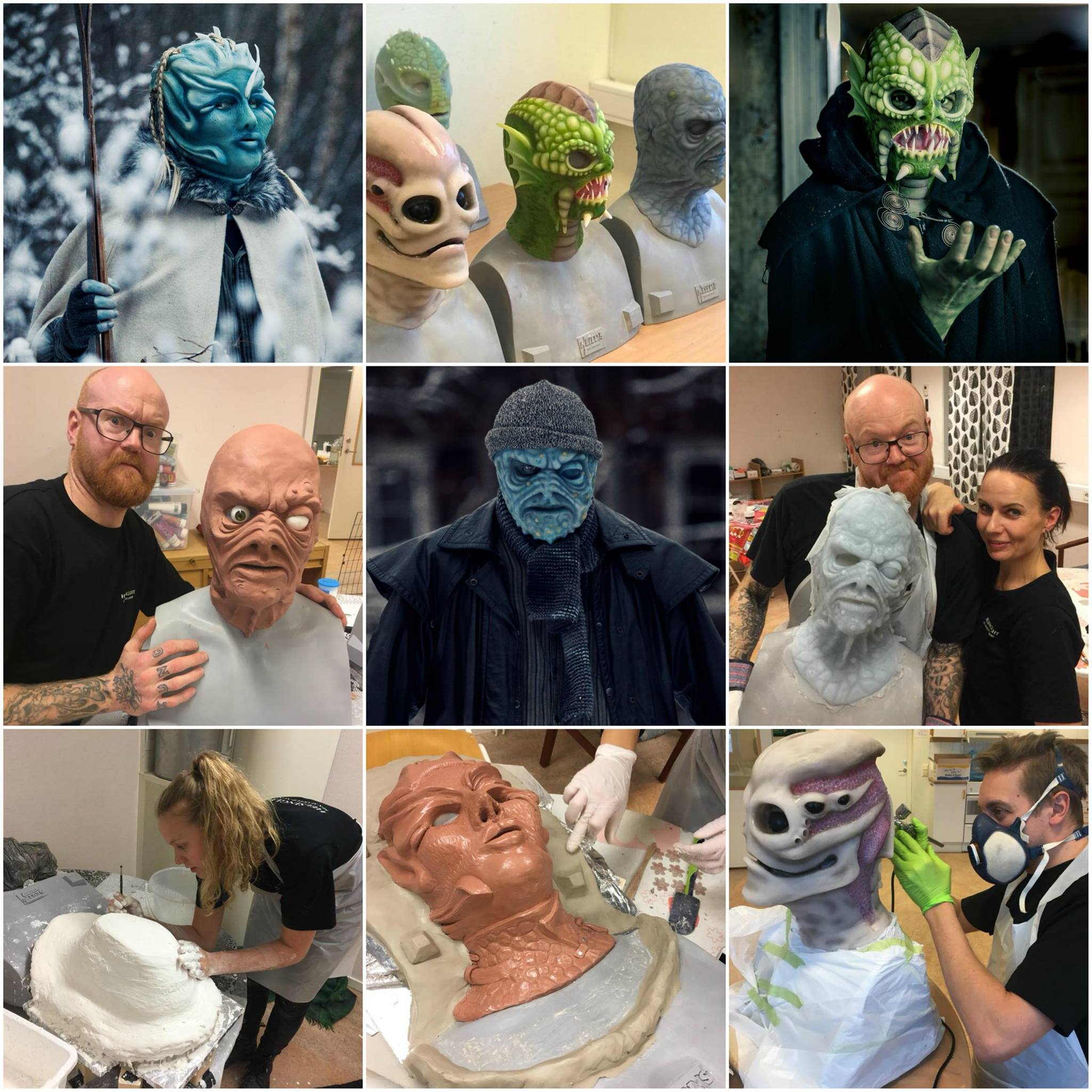 Learn the art of sculpting, mold making, silicone casting, airbrushing during our 10-day silicone mask making workshop!