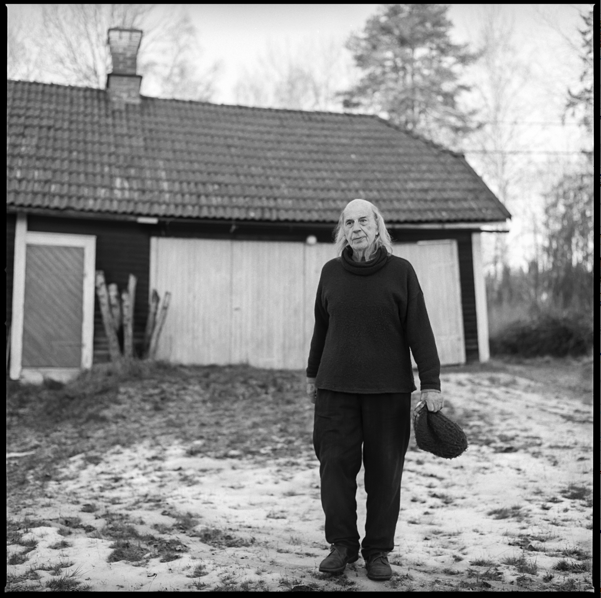 Gunnar Greiber, photo by Joakim Brolin. This photo is taken outside Helsinglight when Gunnar used to live and work there as an artist.