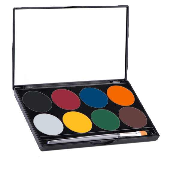 Each student will get their own Mehron Paradise Makeup Aqua Palette - All materials and tools used during the workshop will be supplied + each student will also receive their own Mehron Paradise Makeup Aqua 8 Color basic palette (value €48 / SEK500)!