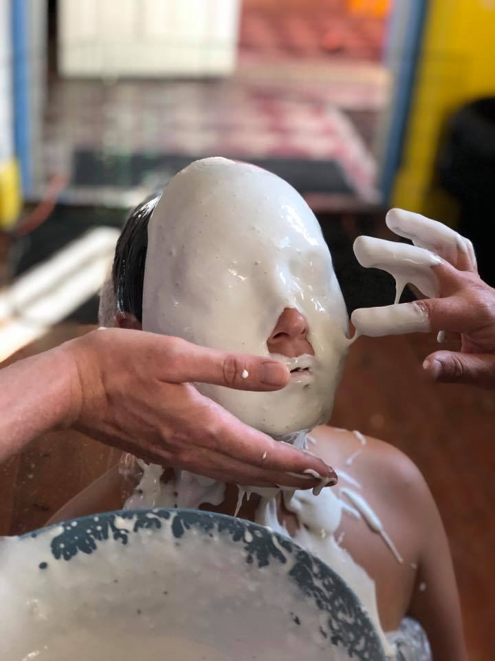 LIfecasting of face using the alginate technique at Helsinglight FX