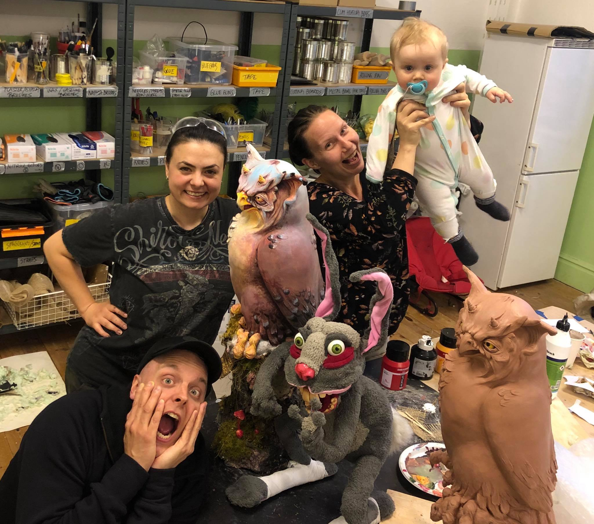 Our last day together at Helsinglight. Fredrik, Amfiria, Petra, LIV, Nasty Bunny and Gilbert the Owl. What a team!