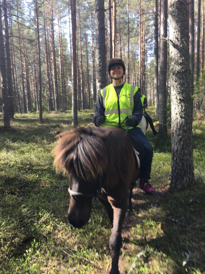 Out riding in the beautiful Forrests of Hälsingland