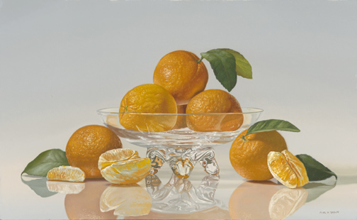 Oranges in Crystal, 20x32
