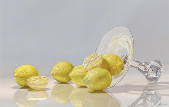 Spilled Lemons, 20x32