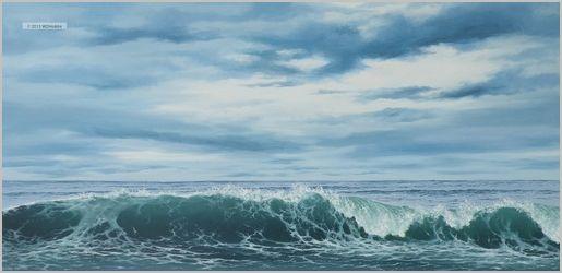 Surf Under Breaking Skies, 12x36