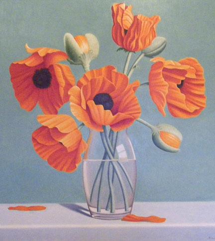 Poppies, 40x36