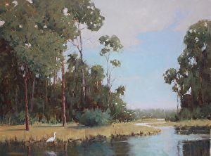 Cypress Noon, 36x48