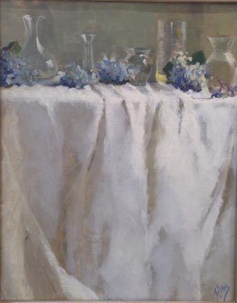 Hydrangea and Glass, 20x16
