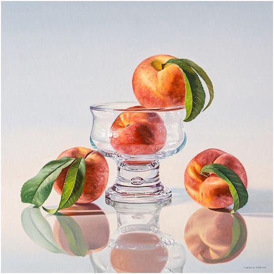 Peaches, 20x20