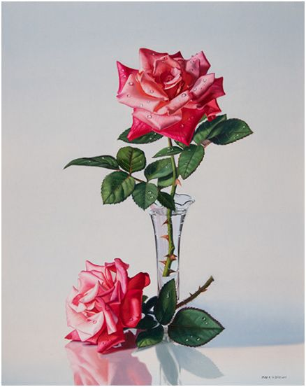 Roses with Water Droplets, 20x16