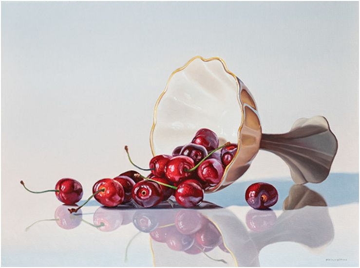 Spilled Cherries, 12x16