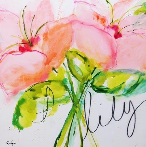 Lilies, 36x36