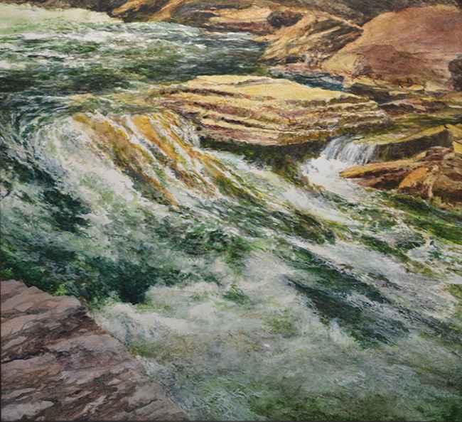 Ausable Falls, 22x24