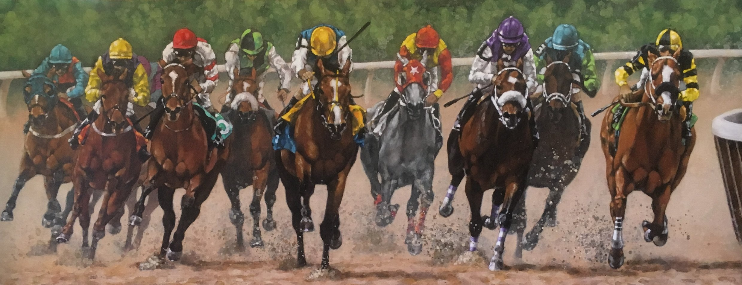 Down the Stretch they Come, 16x40