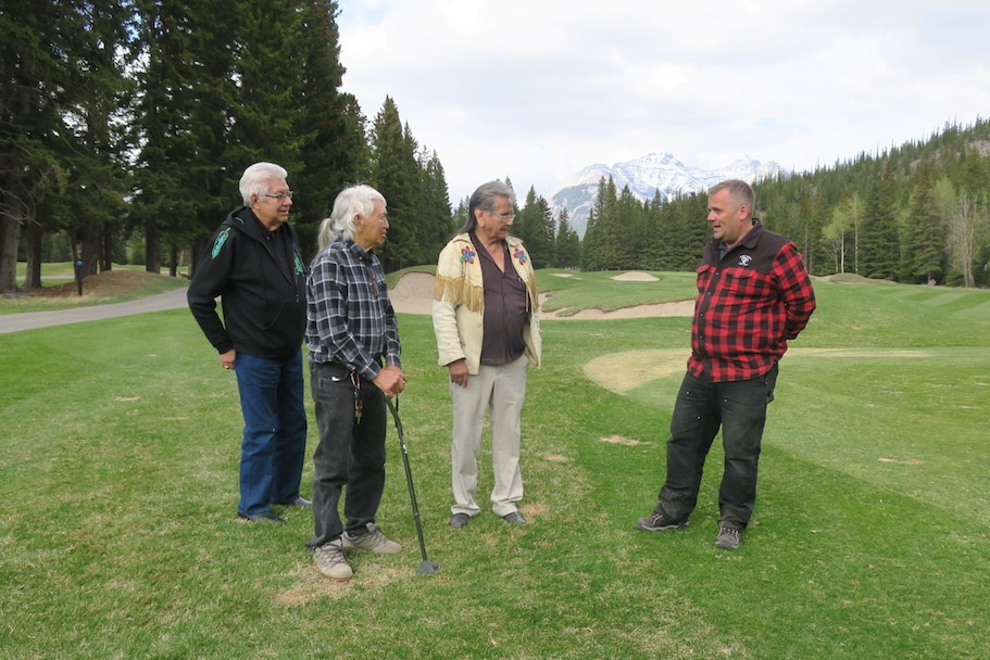 A historic foursome on the Banff Springs Golf Course, May 16, 2019.  Do you know any of these fine gentlemen?