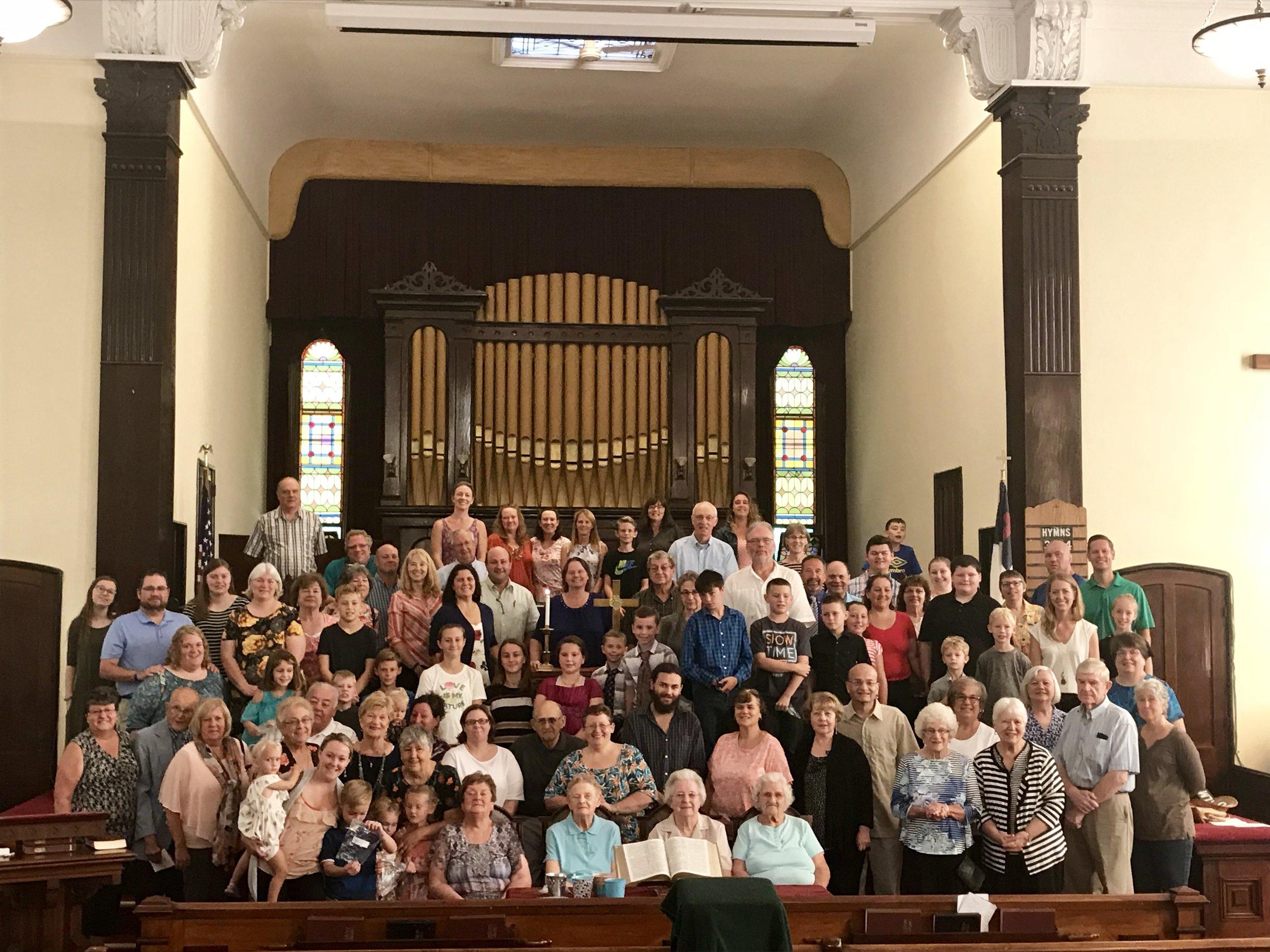 The congregation came home to Bottskill on Sunday, September 16, 2018.