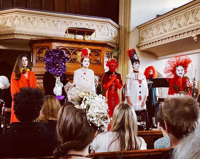 Extraordinary scenes at A Pocketful of Posies album launch. Costumes by Estelle Riviere. Photo by Heather Morris. #nursery rhymes #livemusic #hamstead #albumlaunch  #mask