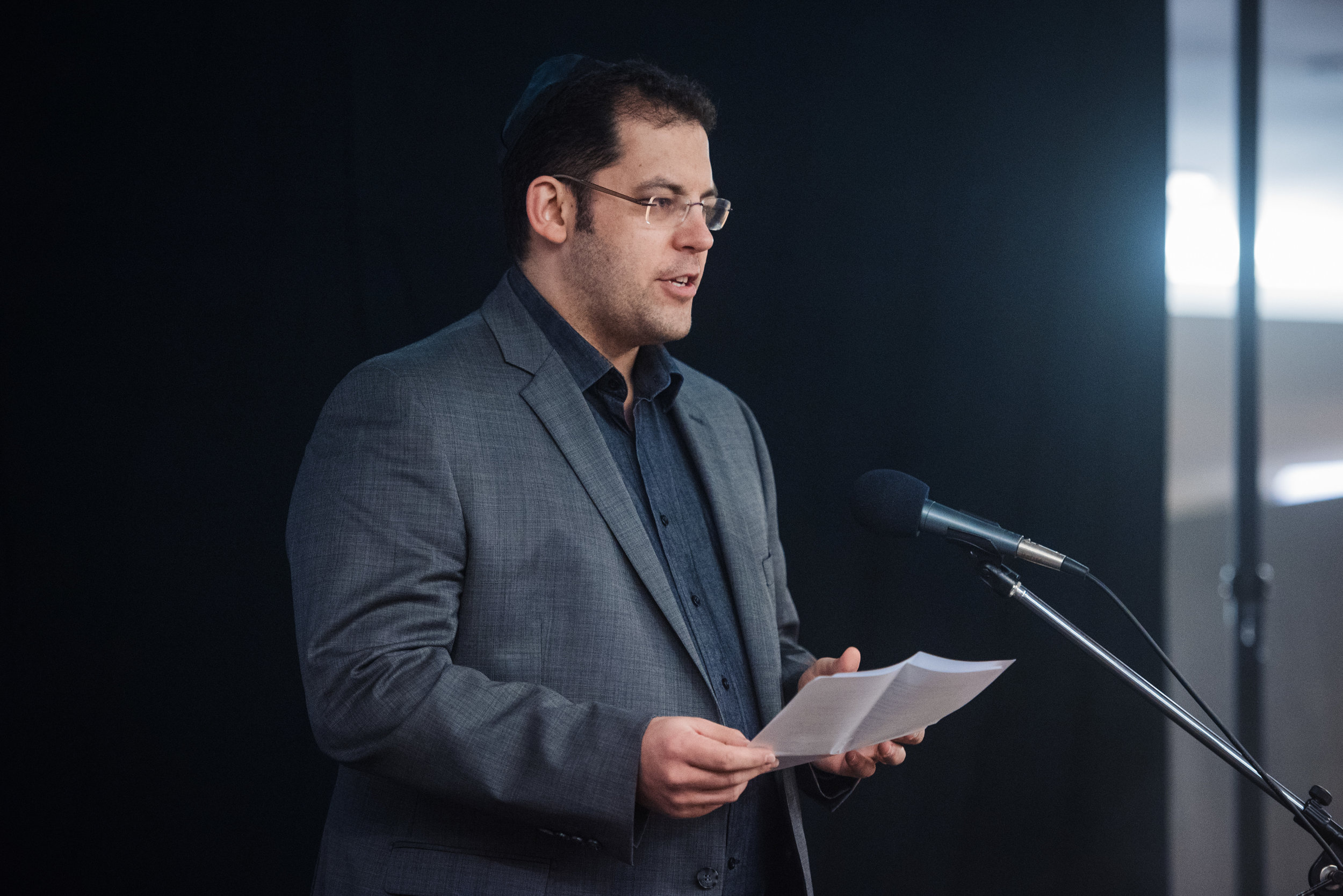 Dr David Cumin, speaking at the New Zealand launch event, 1 August 2018, Auckland Hebrew Congregation