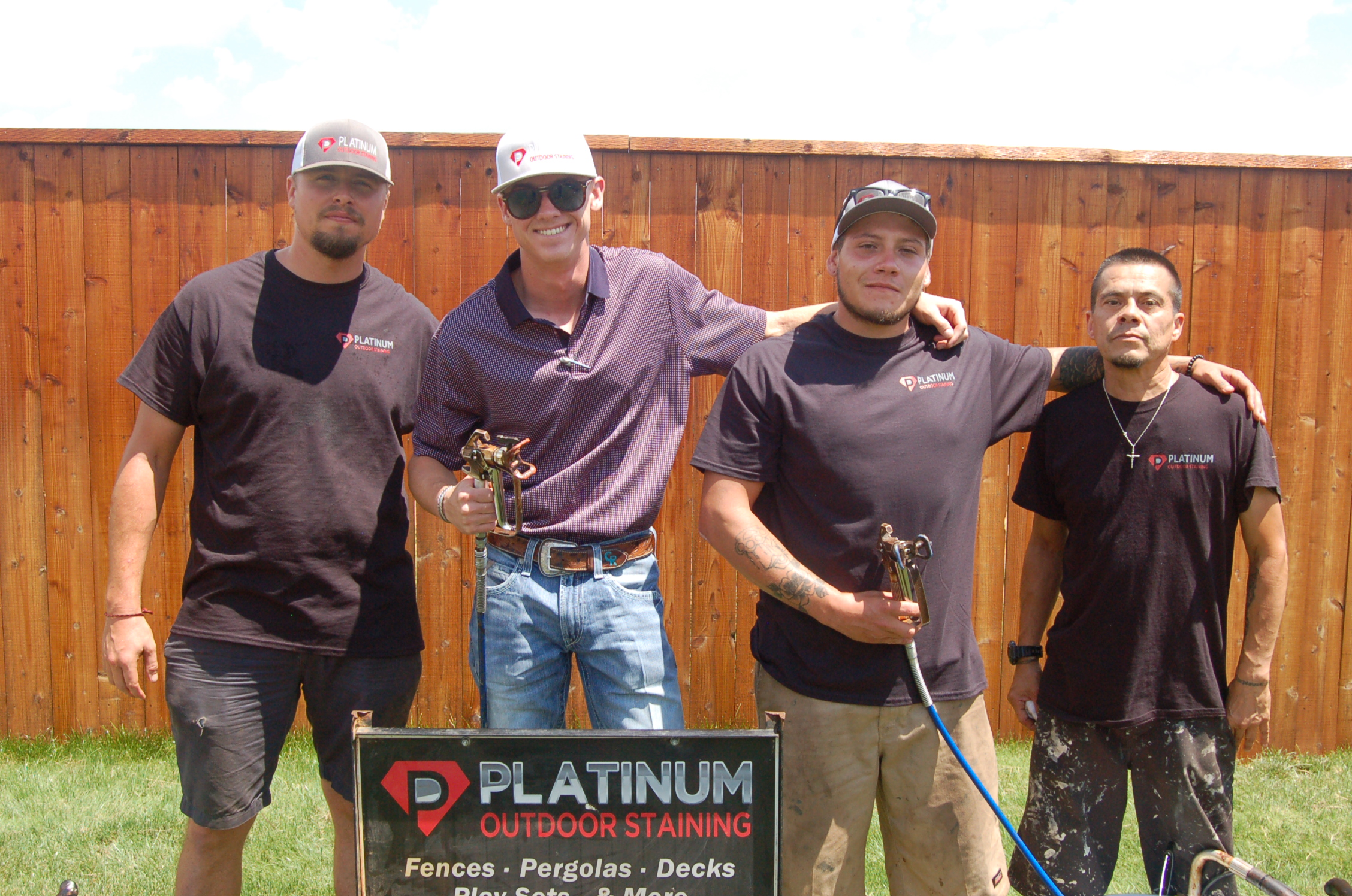 About Platinum Outdoor Staining - started in March of 2017 by Colt Ryan. After high school, he moved to Lubbock working until finally branched out on his own and started Platinum Outdoor Staining. Two years in and having connected with custom home builders growing their reputation they continue to find new ways to serve their customers with reliable service.
