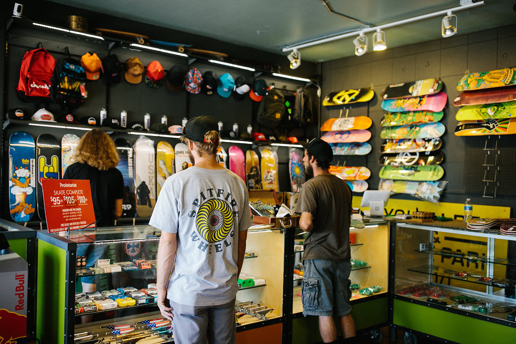 Our recommendation - From amateur to pro this is Lubbock's go-to shop! Come in and talk with Mitch to learn about all of the gear and brands that they carry. Our favorite part is the custom decks with original local artwork!