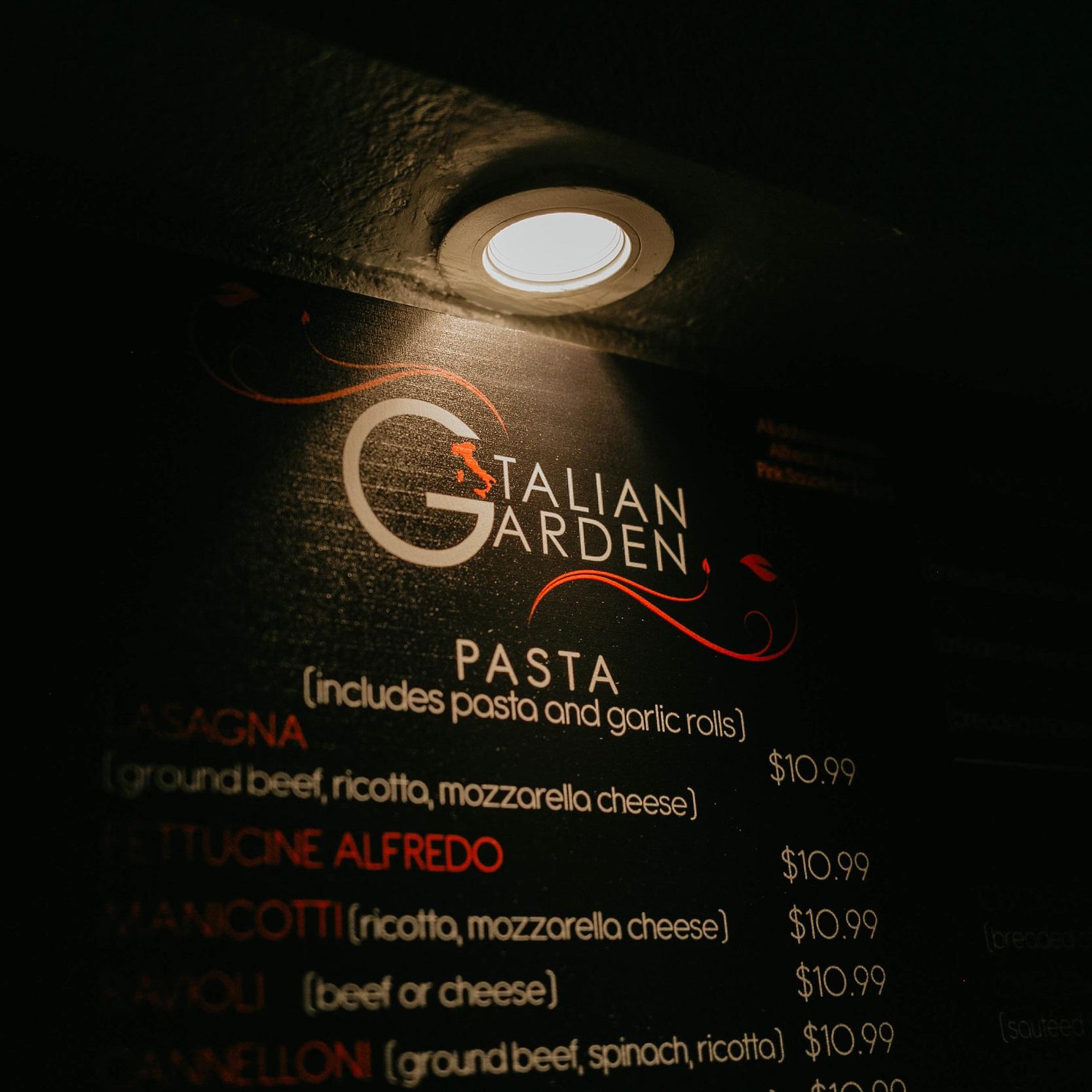 Italian Garden - 10% Off Your Meal