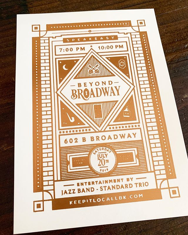We are excited to announce our first pop-up collaboration with our #keepitlocallbk members! #BeyondBroadway is a pop-up speakeasy with a prohibition themed open bar by @thelibrarybarlubbock, a four course 1920's themed dining experience by @heartandsoullbk, and a five piece jazz band brought to you by @the_standard_trio. We are so excited for this event and the many more to come. We desire to create one of a kind experiences for Lubbock, with the vision of shaping and giving back to our community. For more information and to RSVP click the link in our bio👍🏽 Check out the giveaway happening in the Facebook event where you could win two free tickets!
