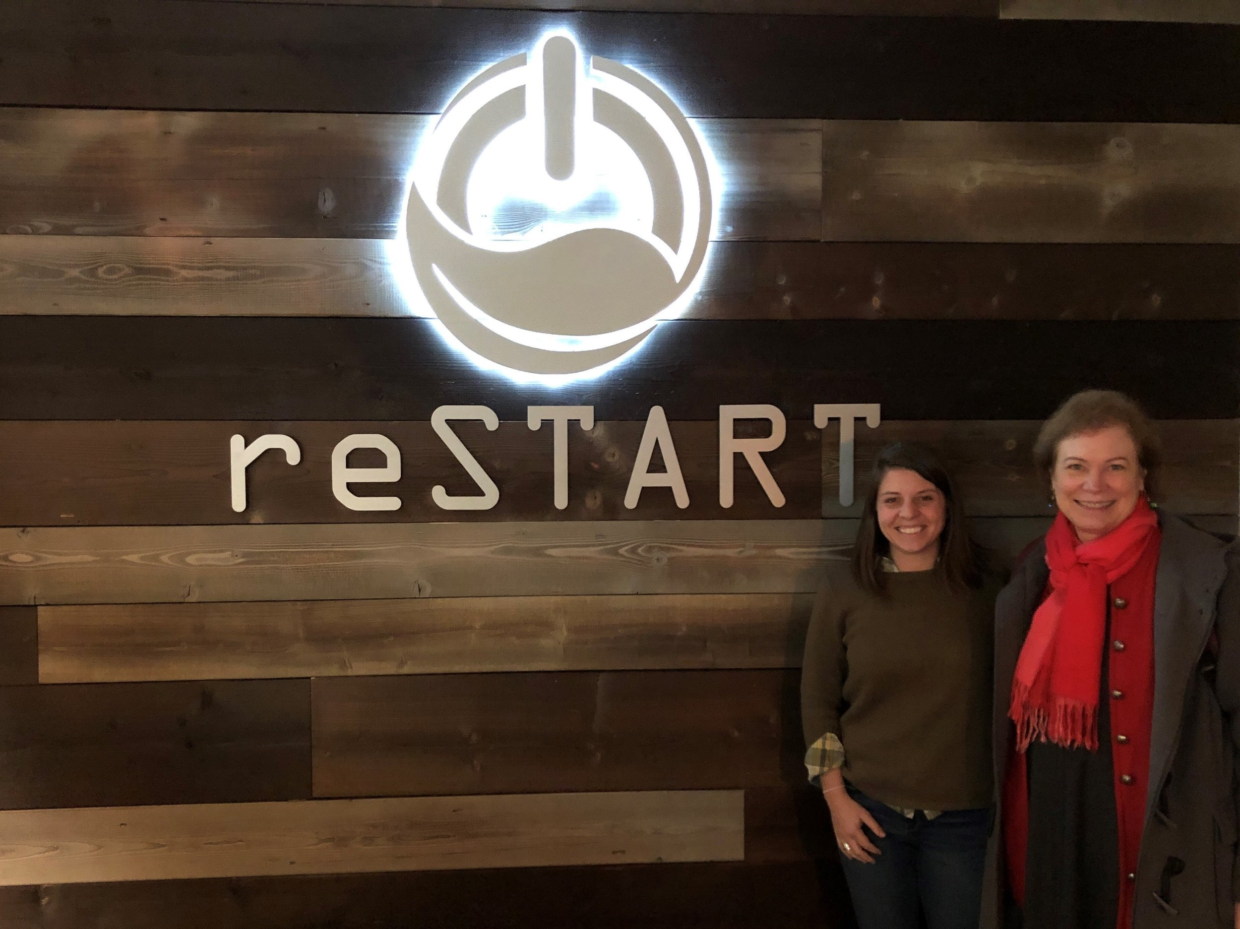 Meeting with Dr. Hilarie Cash of reSTART and touring their new office.