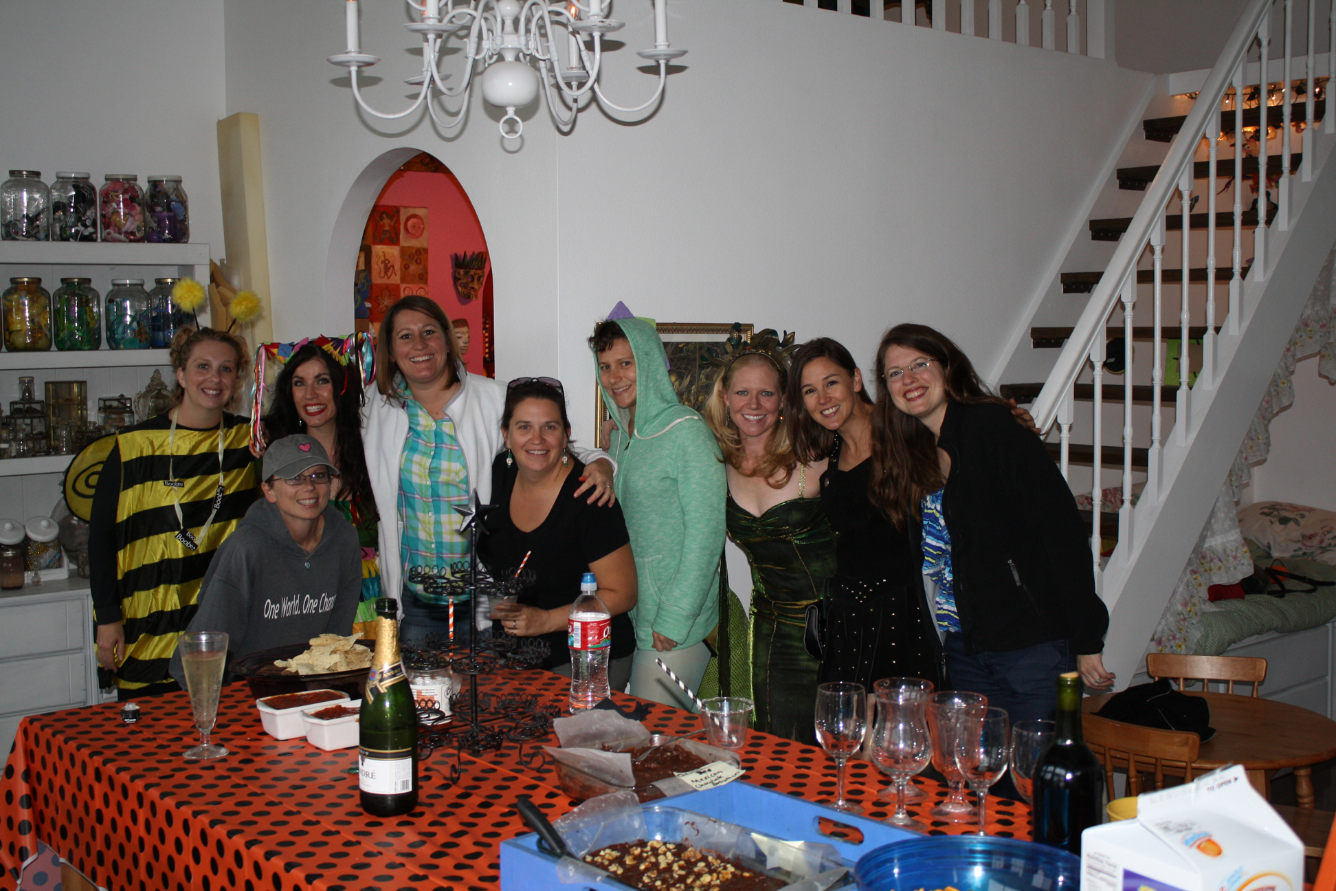 Costume party with friends