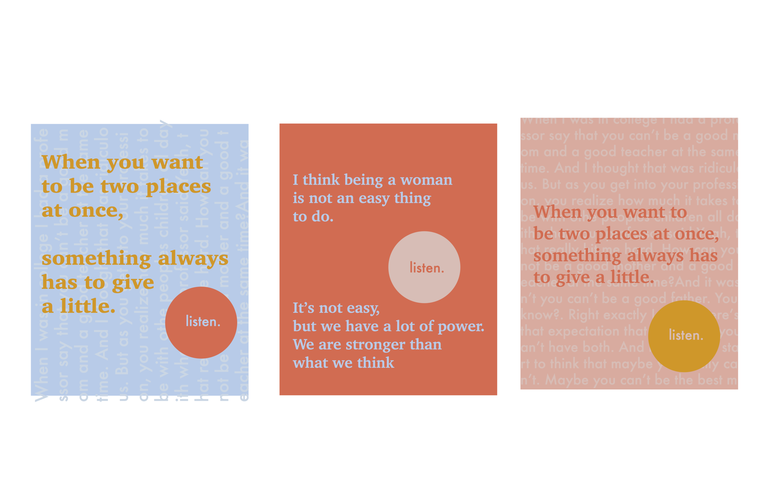 Color Concept: Rough Draft of Posters for Thesis Installation
