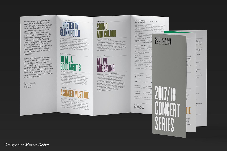 Art of Time Ensemble 2017 Membership Brochure