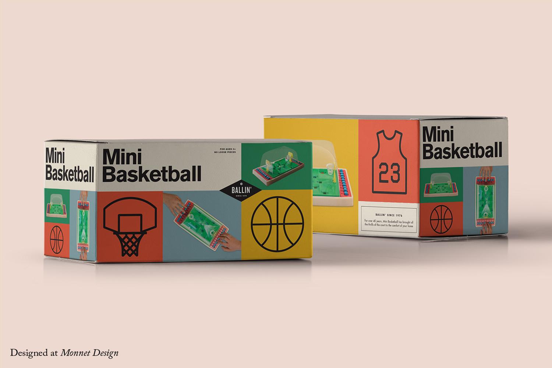 Mini Basketball Retro Packaging