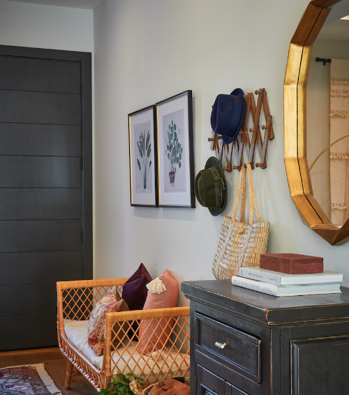 My clients choose this dark front door for their home and I think it really stands out and adds interest.
