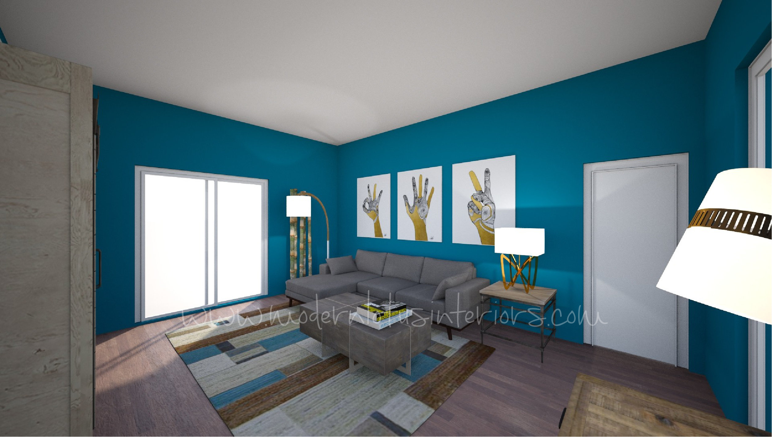 3D Drawing for a living room refresh in irvine, ca