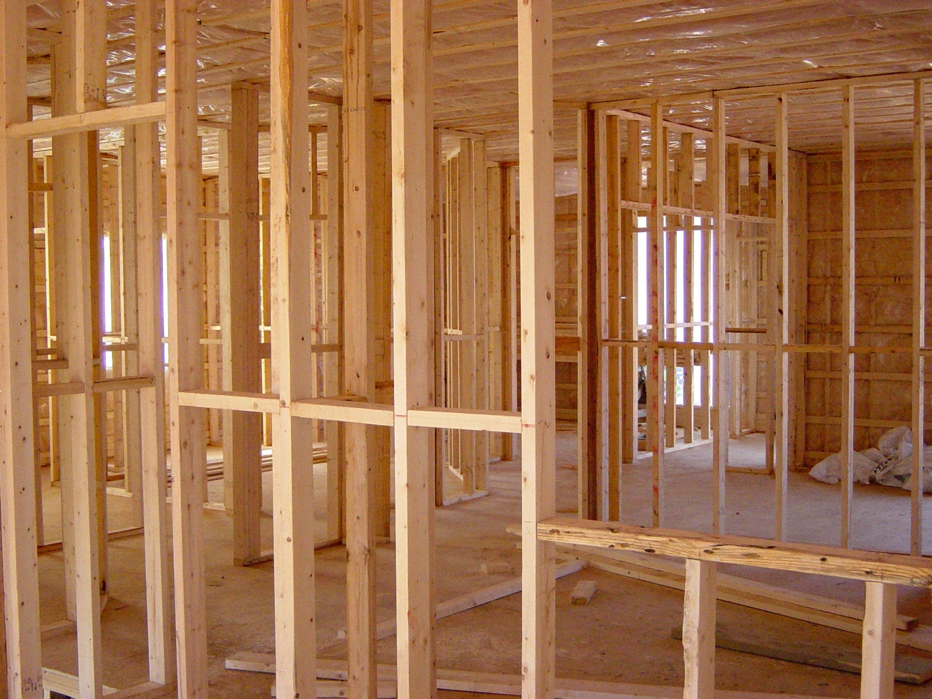 "Residential Construction Framing  - Can you see the  ""bones""  of this building??"