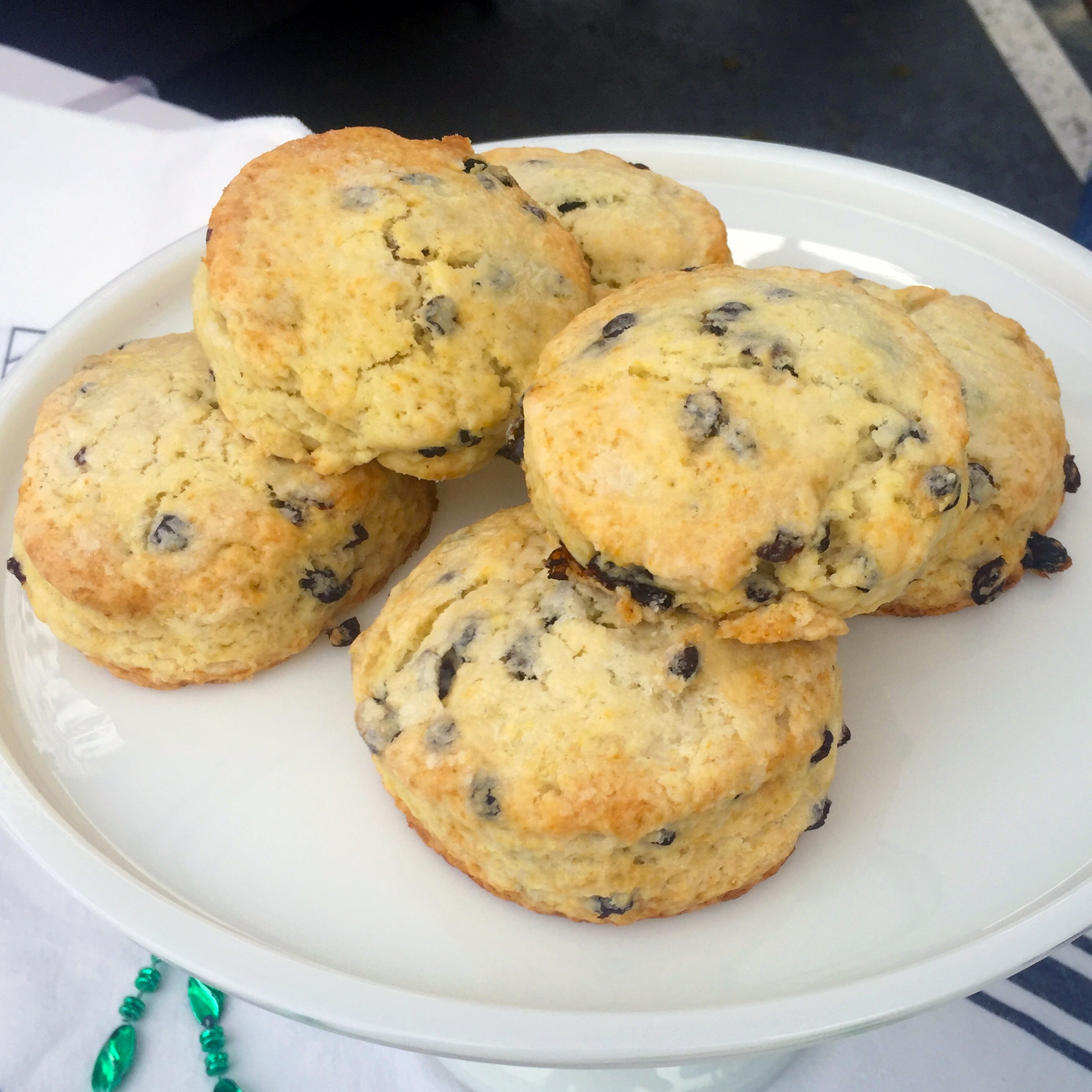 Scones (pictured with currants): $12/dozen