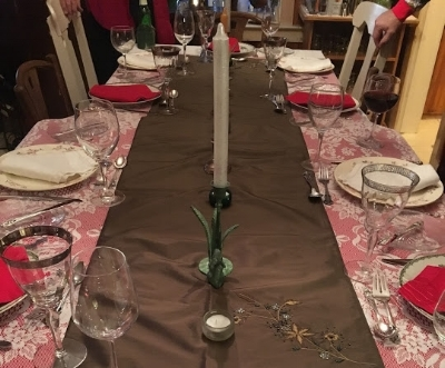 Take care in setting the table and your guests will take care to be present with you.