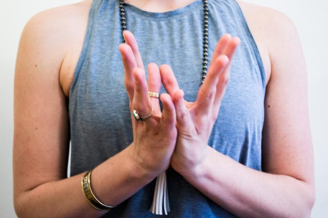 Padma (Lotus) Mudra. Photo by Joelle Ng.
