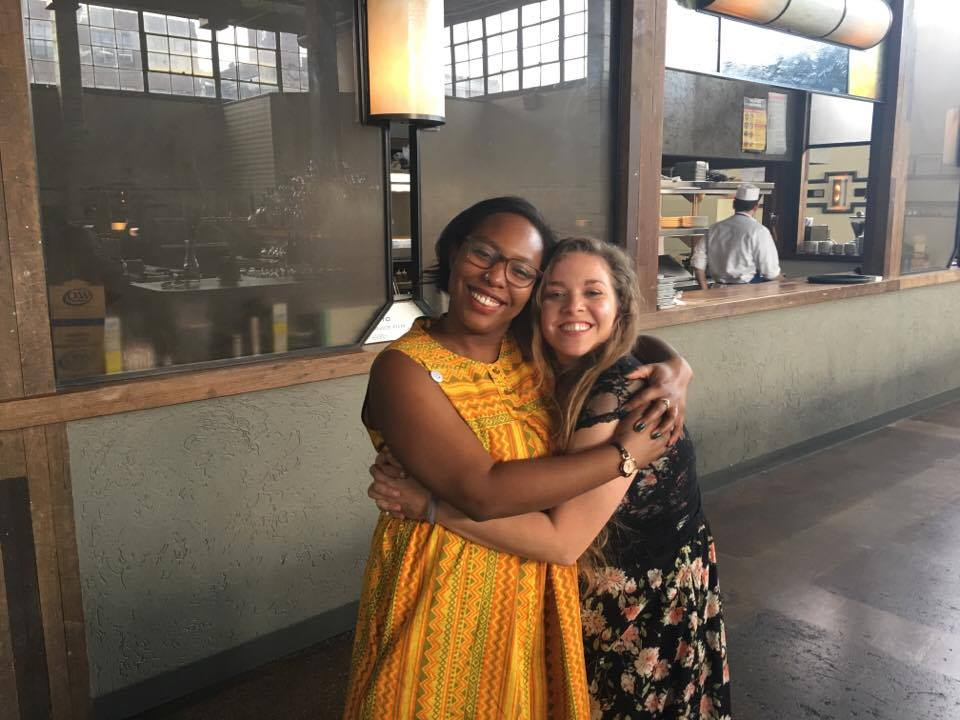 Chanel and Kelsey - Hug at Brooklyn Premiere - large.jpg