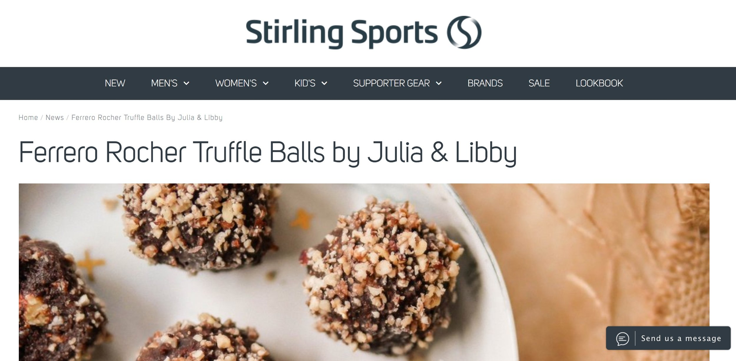 Stirling Sport - Ferrero Rocher Truffle Balls Read Here
