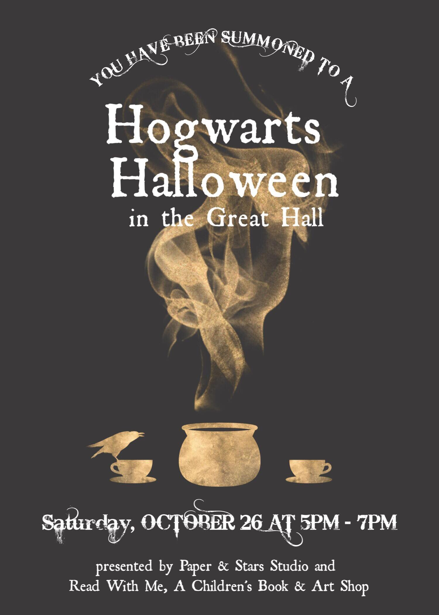 Hogwarts Halloween - Celebrate All Hallow's Eve at Hogwarts with potions, pumpkins, food, and fun! We'll create magical crafts, decorate a Potteresque pumpkin, brew up some potions, and enjoy food from the Halloween Feast in The Great Hall. Wear your best Hogwarts-inspired finery, and watch out for trolls in the dungeon!Tickets and information on Facebook.Tickets on Square.